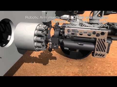 Honeybee Robotics presents a sample acquisition and caching architecture for the upcoming Mars 2020 rover mission. This approach uses a SLOT bit for acquisition of returnable core samples. The benefit of the SLOT bit provides mission operators to observe and analyze the core sample along its length and estimate its volume. If deemed to be of high scientific value, the SLOT bit with the sample can be deposited in a cache and hermetically sealed.  Honeybee Robotics has unmatched experience developing technologies for sample acquisition, caching and processing. This includes key technologies and architectures that could enable Mars Sample Return (MSR) as the core function of a Mars 2020 mission. The company has been designing and building surface drills for MSR since the 1990\'s, and to date has built and tested 10 different core drilling systems including lightweight drills that can take multiple core samples from a variety of rocks; intelligent drilling systems that provide fault-tolerant operations; and a range of drill bits to capture whole rock cores or just specific samples..  The Mars Mission 2020 is intended to investigate the environment on Mars in the context of its habitability and potential for preservation of biosignatures within accessible geologic materials. Mars Sample Return is a long-sought objective to better understand the history and habitability of Mars by bringing cached rock samples back to Earth for analysis.