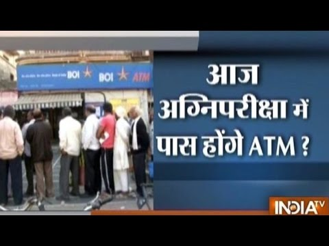 Demonetisation Effect: ATMs go cashless, people queue up outside banks for money