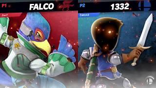 Otacon Party - ZanT (Falco) vs Joa (Mii SwordFighter) - Winners Semi Finals