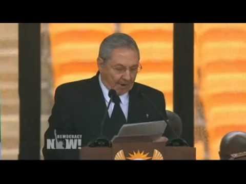 Cuba's Raúl Castro Praises Nelson Mandela's