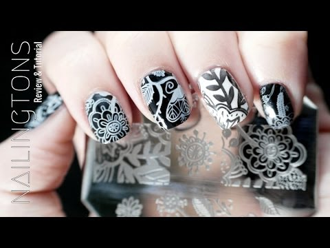 Nail Art Review: QA83 Born Pretty Arabesque Flower Nail Stamping Plate Tutorial