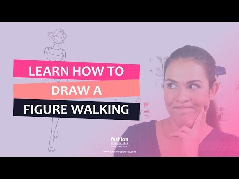 How to draw a fashion figure walking | Drawing the female figure tutorial