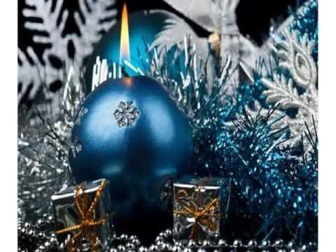 Blau und silber weihnachtsdekoration