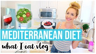 MEDITERRANEAN DIET WHAT I EAT ALL DAY VLOG | COOKING, LAUNDRY, + CLEANING MOTIVATION! | Brianna K