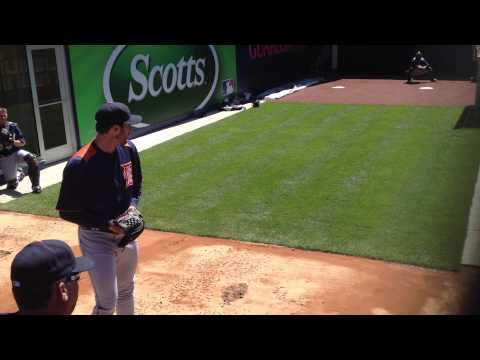 Justin Verlander bullpen session at Yankee Stadium (horizontal)