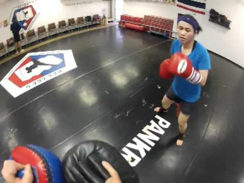 Posener's Pankration and Muay Thai: Muay Thai Pad Training Image 1