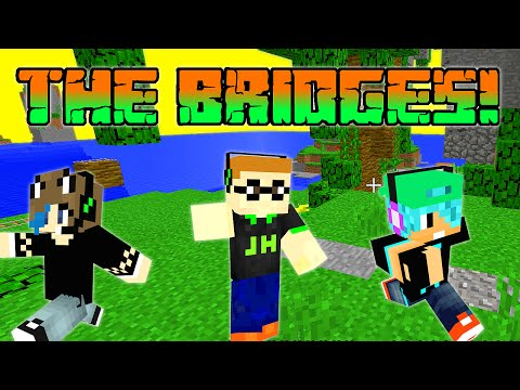 MINECRAFT | the BRIDGES GamePlay | AUDREY, DAD and CHAD | MINEPLEX SERVER
