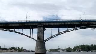 Гигантский паук живет под Старым мостом в Самаре --- Giant spider in Samara