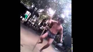 Martial arts long stick training