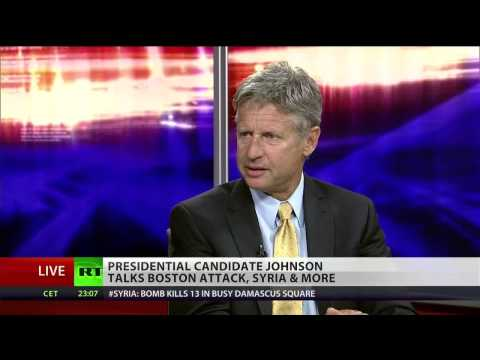 Gov. Gary Johnson on Boston bombing, Guantanamo Bay and Syria