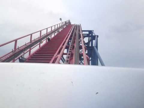 Blackpool Pepsi Max Front seat LIVE The Big One Roller Coaster July 2010