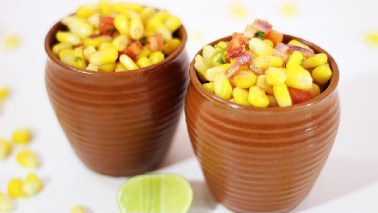 spicy sweets corn chaat popular indian street food