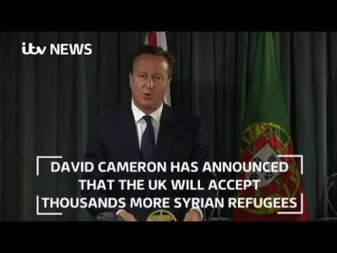 UK to take 'thousands more' refugees from Syria, David Cameron announces