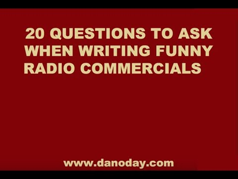 How To Write Funny Radio Commercials video
