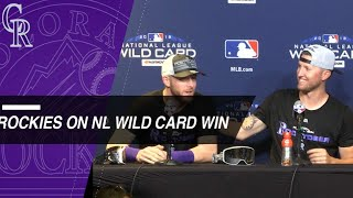 Rockies players, Black discuss team's win over Cubs