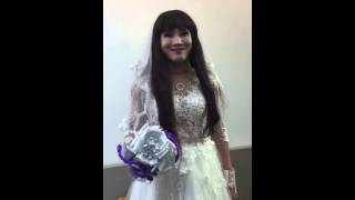 Huỳnh Lập DamTV mặc áo cưới xinh như hoa