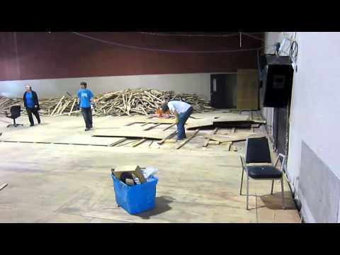 Captain's Blog 3-2-11 Gymnasium Floor Removal