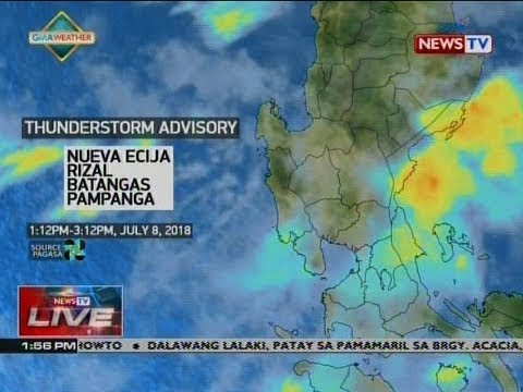 NTVL: Weather update as of 1:56 p.m. (July 8, 2018)