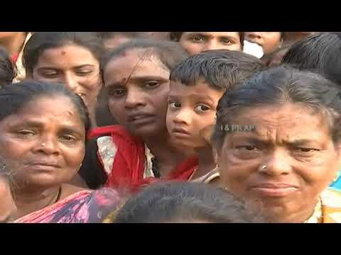 Hon'ble CM of AP Visit  Cyclone Titli Hit Areas Vajrapukotturu Mandal, Akkupalli in Srikakulam