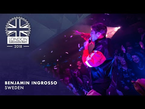 Benjamin Ingrosso - Dance You Off - SWEDEN   LIVE   OFFICIAL   2018 London Eurovision Party