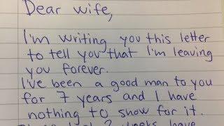 Echtgenoot eist echtscheiding in brief, zijn vrouw briljant antwoord maakt hem spijt van elk wo...