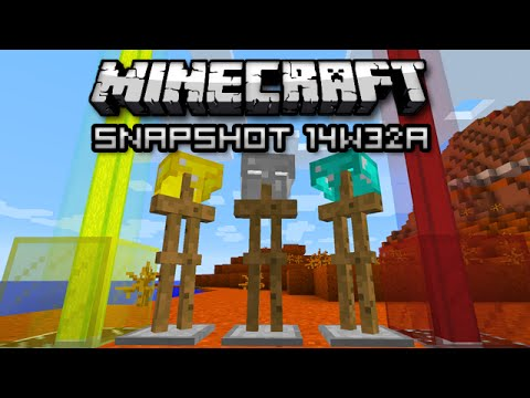 Minecraft: Armor Stands Colored Beacons and More Snapshot 14w32a
