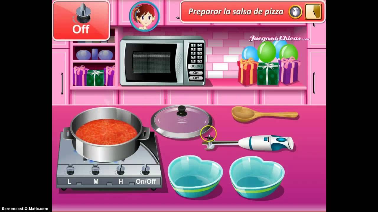 Cocina con sara pizza de san valentin hd youtube - Juegos de cocina con sara paella ...