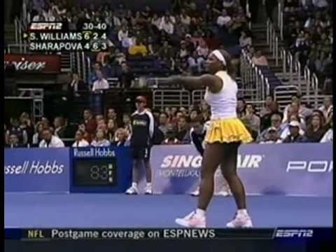 [HL] Maria Sharapova vs. Serena Williams 2004 WTA Championships [F]