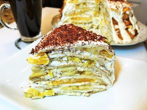 БЛИНЫ. Блинный Торт ПАЛЬЧИКИ ОБЛИЖЕШЬ .  Pancake Cake.