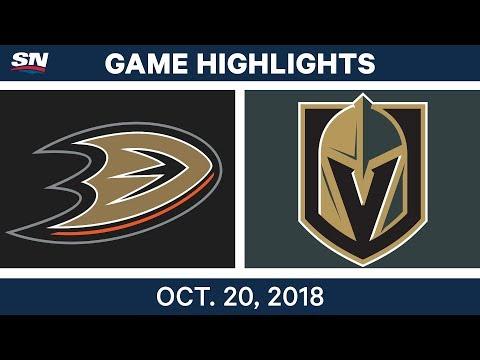 NHL Highlights  Ducks vs. Golden Knights - Oct. 20, 2018