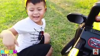 Xe cần cẩu bảo vệ ô tô nhỏ - đồ chơi trẻ em B1012P | Hi Kids Studio TV