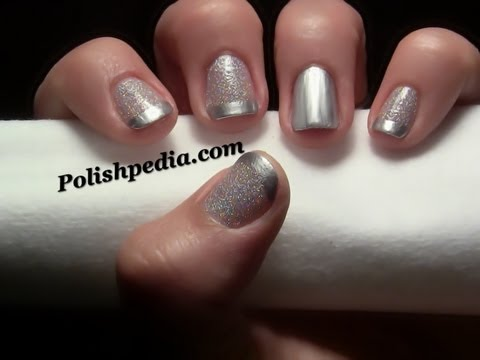 Glitter French Tip Nail Art