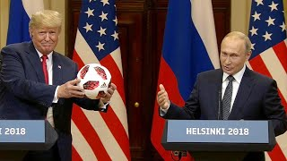 Vladimir Putin Brings Soccer Ball for Barron Trump