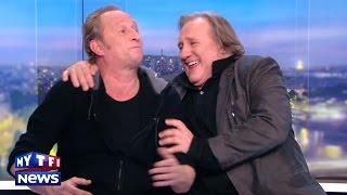 """Gerard Depardieu et Benoit Poelvoorde n'ont pas bu de vin pendant """"Saint Amour"""", ils l'assurent !"""
