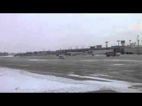Blue Grass Airport the day after the snow and ice storm