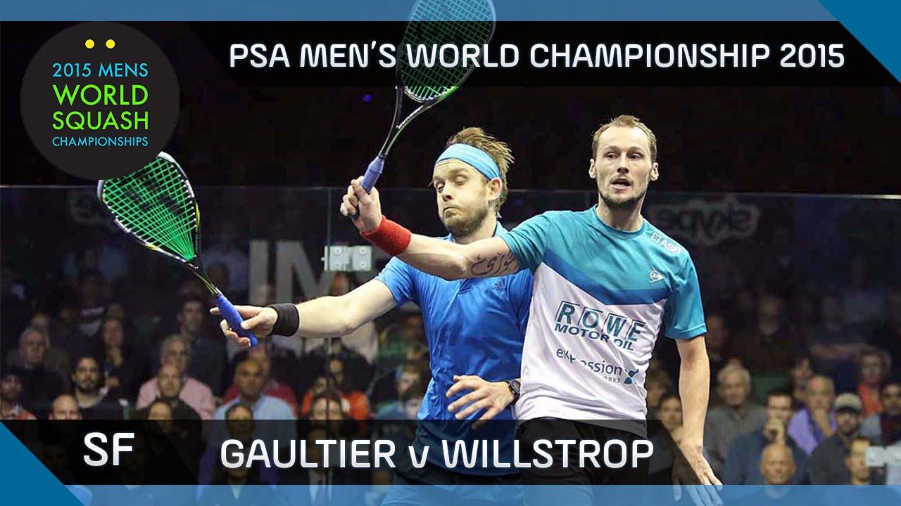 Squash: 2015 PSA Men's World Championship Semi-Final Highlights: Gaultier v Willstrop