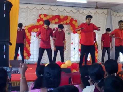 D2 boys st antony mala |College Arts day group dance 2k17|mukkathe penne|pavam pavad| macahnea