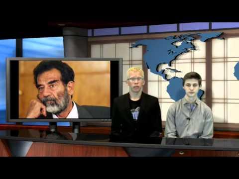 Saddam Hussein Newscast (World Geography Project)