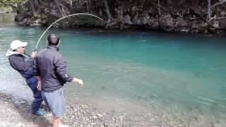 Pesca de Salmon en el CHALTEN PATAGONIA ARGENTINA !!!