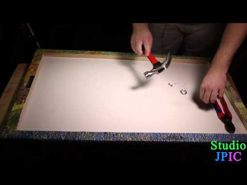 How to mount a canvas on a wall