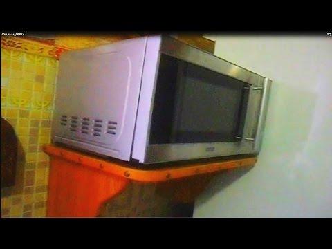 Полка-стеллаж для микроволновки своими руками + потайной ящик