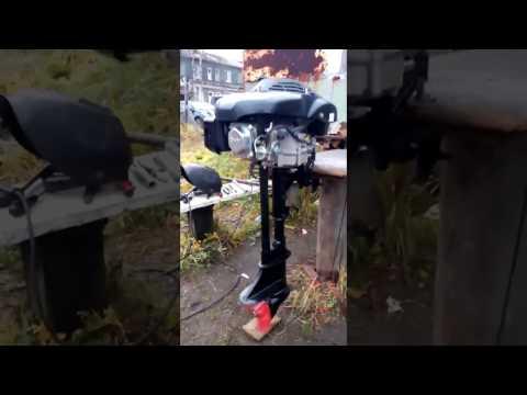 самодельный лодочный мотор с ногой от салюта
