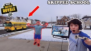 I Skipped School To Play Fortnite Season 7 All Day Got Caught Parents Freaked Out
