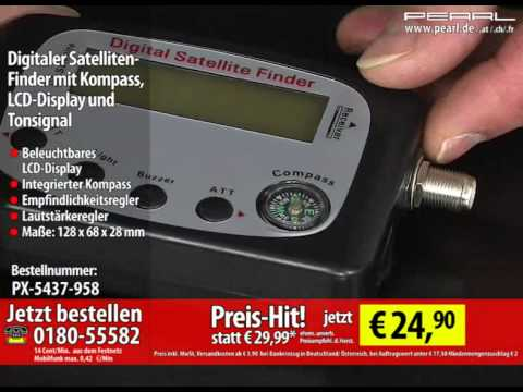 Digitaler Satelliten-Finder mit Kompass, LCD-Display und Tonsignal