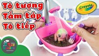 Tô Tượng, Tắm Táp, Tô Tiếp với bộ đồ chơi Crayola Scribble Scrubbie ToyStation 267