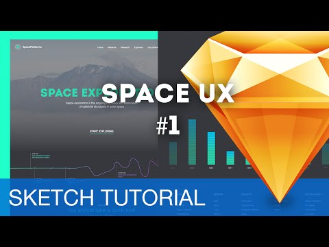 Sketch 3 Tutorial • Space UX (Webdesign)  1/3 • Sketchapp Tutorial & Design Process Workflow
