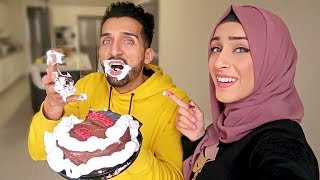 SHAVING CREAM on BIRTHDAY CAKE PRANK