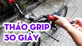 [Vietriders.vn] - Cách tháo tay nắm xe đạp trong 30 giây ... và tặng tay nắm cũ