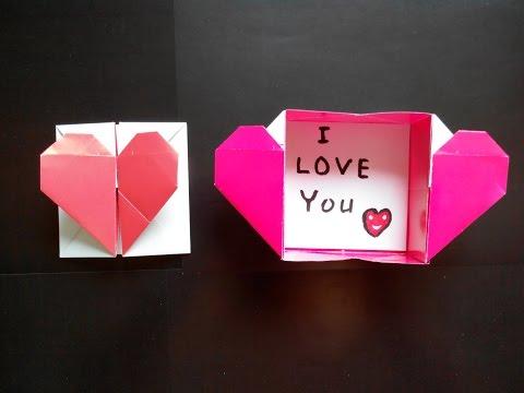 Как сделать коробочку из бумаги сердце