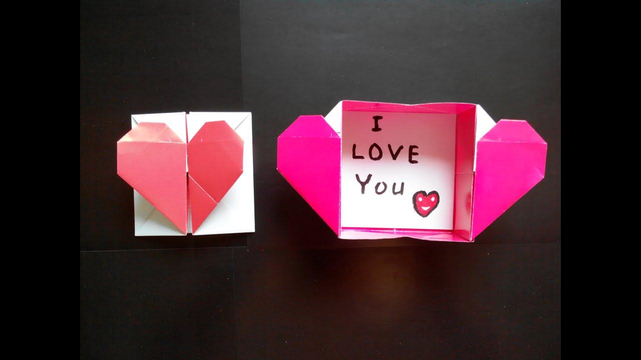 Как сделать сердечко из бумаги коробочка